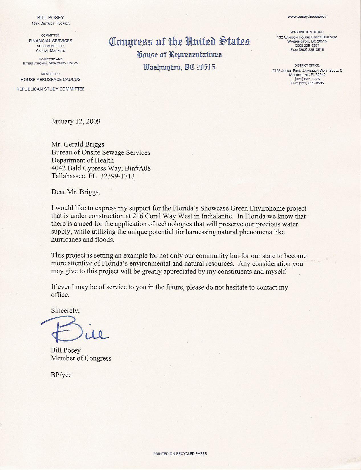 Write Letter To State Representative